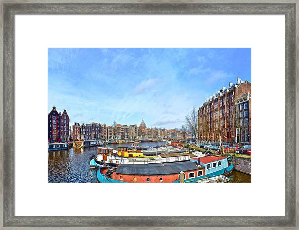 Waalseilandgracht Amsterdam Framed Print