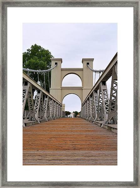 Waco Suspension Bridge Framed Print