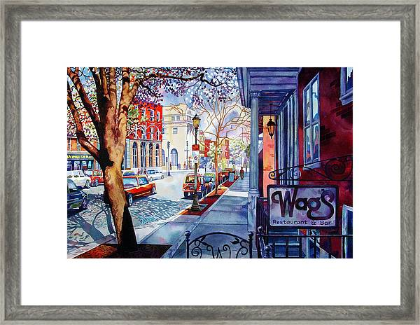 Wags Framed Print