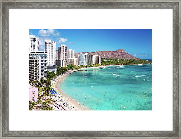 Waikiki Beach Framed Print