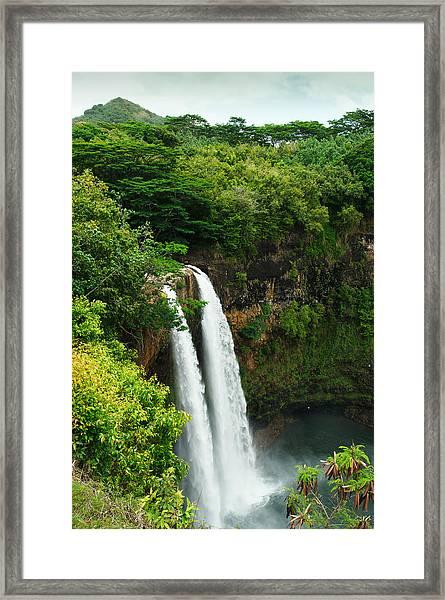 Wailua Falls Kauai Framed Print