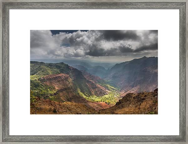 Waimea Canyon Kauai Framed Print by Sam Amato