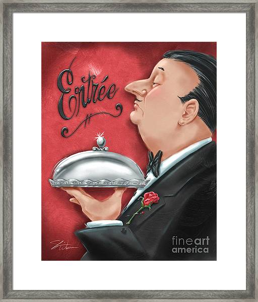 Waiter With Entree  Framed Print