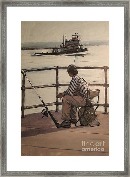 Waiting At Castle Island Framed Print