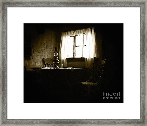 Waiting For Company Framed Print