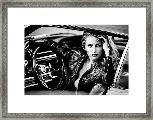 Waiting For My Company To Leave... Framed Print