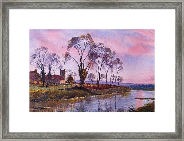 Waiting For Sunset Framed Print