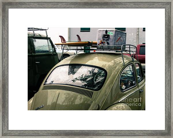 Beetle Surf   Framed Print by Steven Digman
