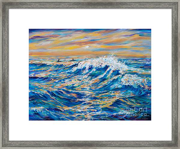 Waiting For The Last Wave Framed Print