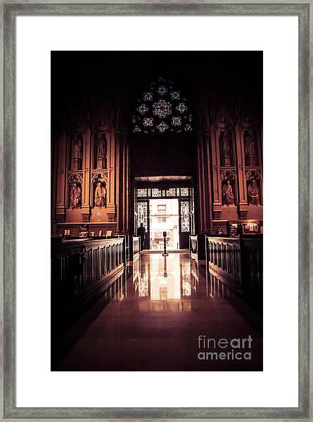 Waiting In Faith Framed Print
