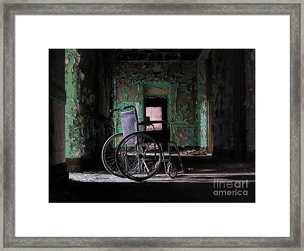 Waiting In The Light Framed Print