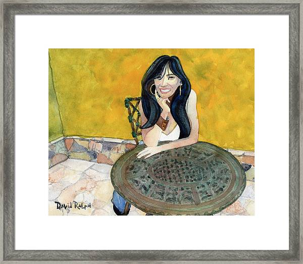 Waiting Lady Framed Print