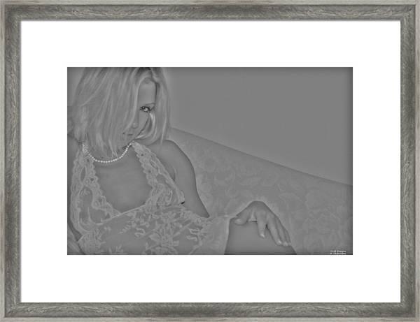 Waiting On Romance Framed Print by Teresa Blanton