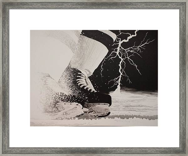 Waiting On The Thunder Framed Print