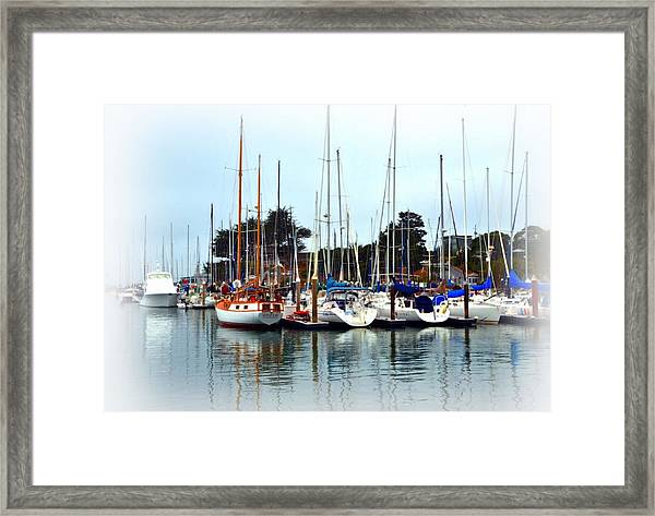 Waiting To Sail Santa Cruz Framed Print