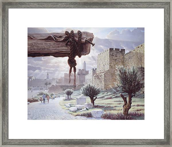 Walk In The Light  Jerusalem Framed Print