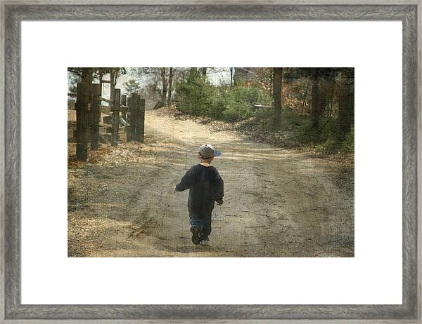 Walk On The Road  Framed Print