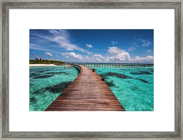 Walk Over The Water Framed Print