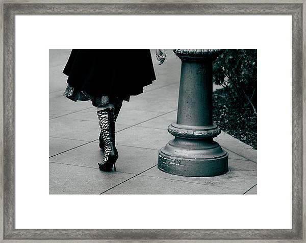 Framed Print featuring the photograph Walk This Way by Lorraine Devon Wilke