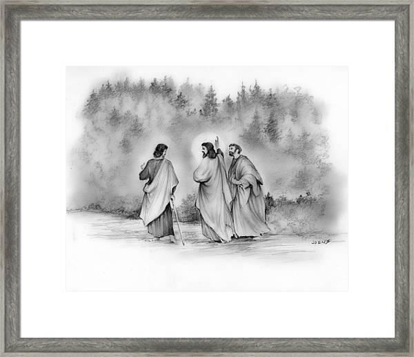 Walk To Emmaus Framed Print