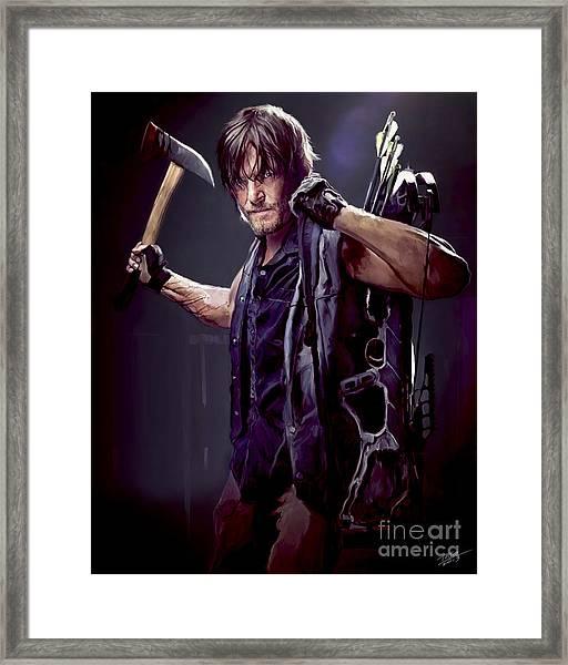Walking Dead - Daryl Dixon Framed Print