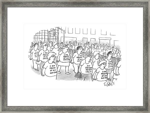Walking In A Parade Framed Print