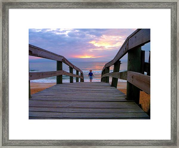 Walking Into Paradise Framed Print