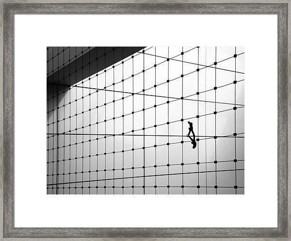 Walking The Line Framed Print