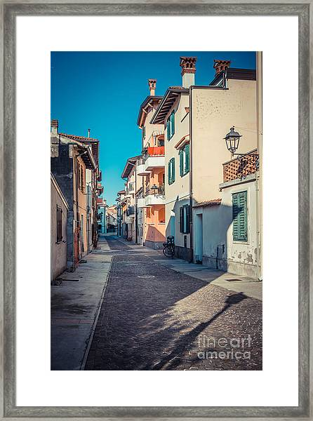 walking through Grado - through the past Framed Print