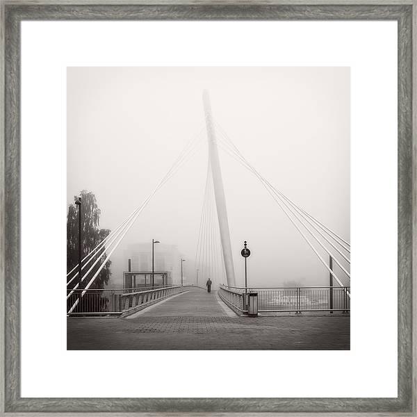 Walking Through The Mist Framed Print