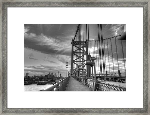 Walking To Philadelphia Framed Print