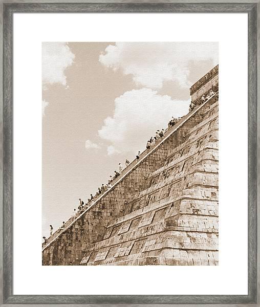 Walking Up The Pyramid Framed Print