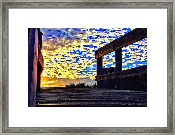 Walkway To Heaven Framed Print