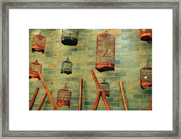 Wall Of Cages Framed Print