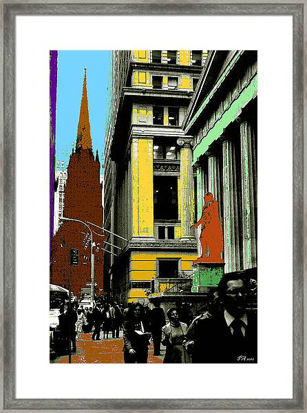 New York Pop Art 99 - Color Illustration Framed Print