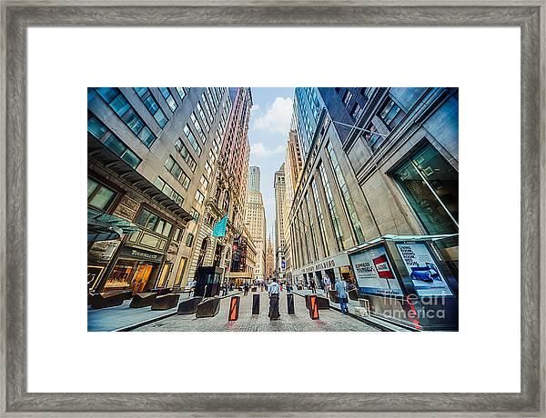 Wall Street Framed Print