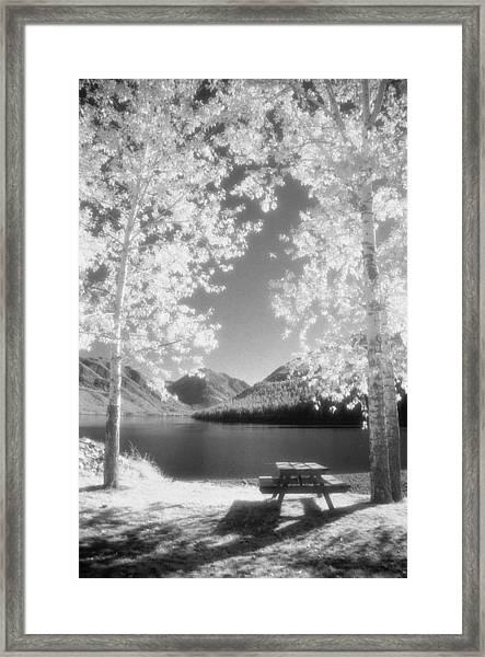 Wallowa Lake Infrared Framed Print
