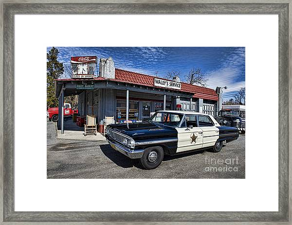 Wallys Service Station Framed Print