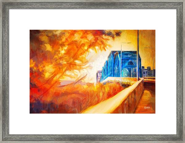 Walnut Street Walk Framed Print