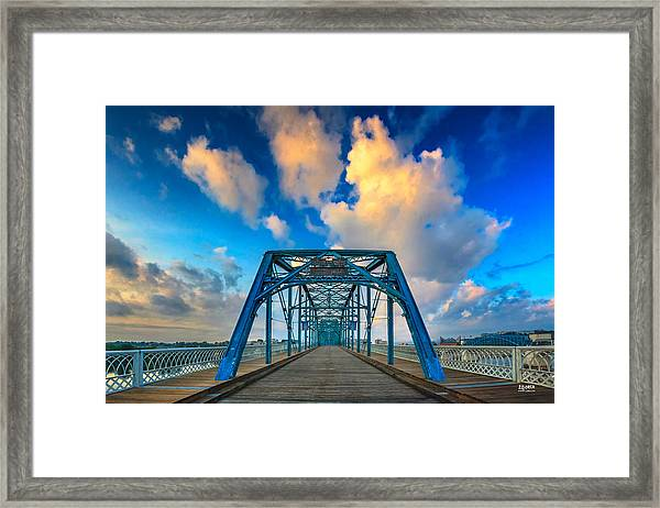 Walnut Street Walking Bridge Framed Print