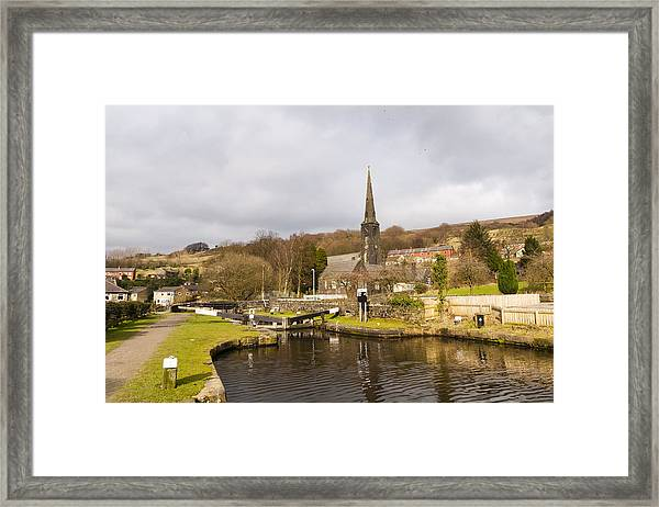 Walsden Church And Canal Lock Framed Print