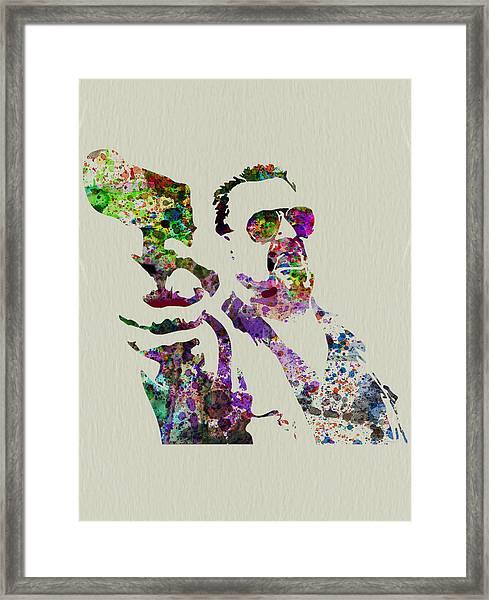 Walter Big Lebowski  Framed Print by Naxart Studio