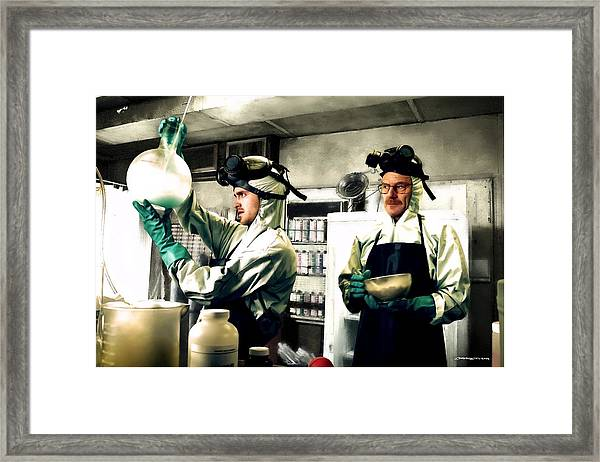 Walter White And Jesse Pinkman Framed Print