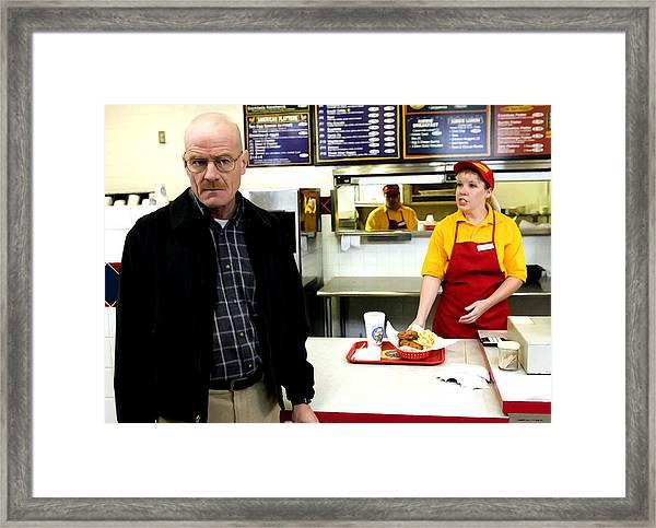 Walter White In Pollos Hermanos @ Breaking Bad Framed Print