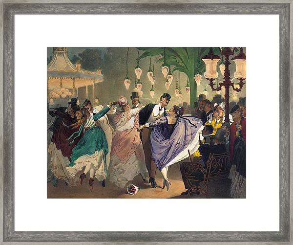 Waltz At The Bal Mabille  Framed Print