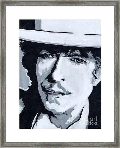Wandering Troubadour - Bob Dylan Framed Print