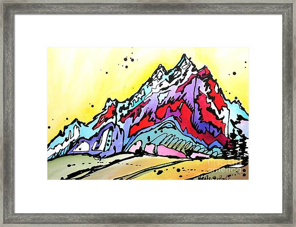 Waning Seasons In The Tetons Framed Print