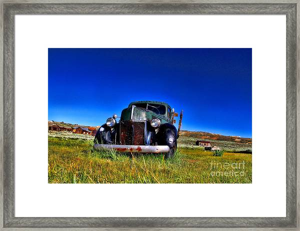 Wanna Ride - Bodie Ghost Town By Diana Sainz Framed Print