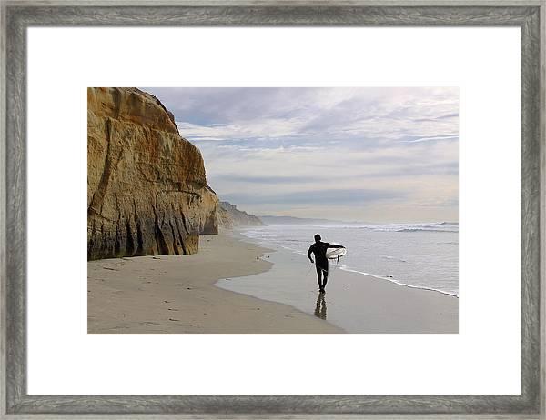 Wanted  Big Wave Framed Print
