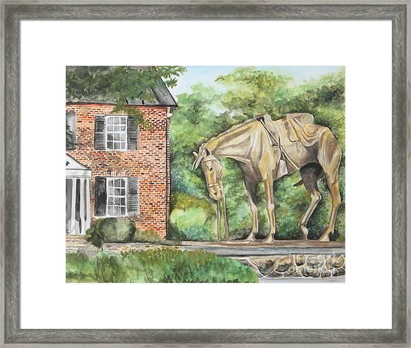 War Horse Memorial Framed Print